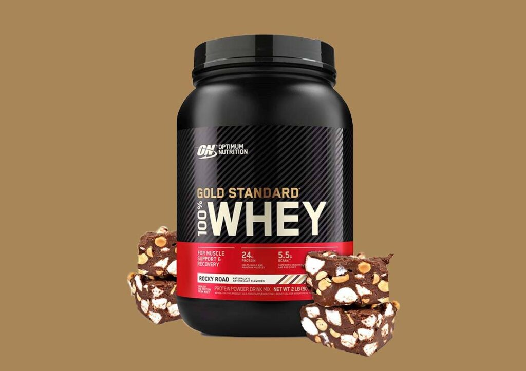 Optimum Nutrition gold standard whey protein rocky road